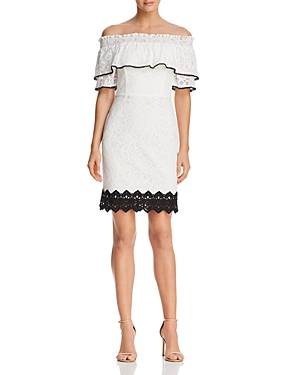 Adelyn Rae Hilda Off-the-Shoulder Lace Dress