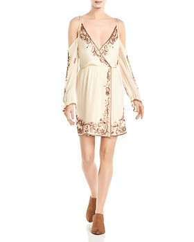 Haute Hippie - Love and Other Disasters Cold-Shoulder Silk Dress