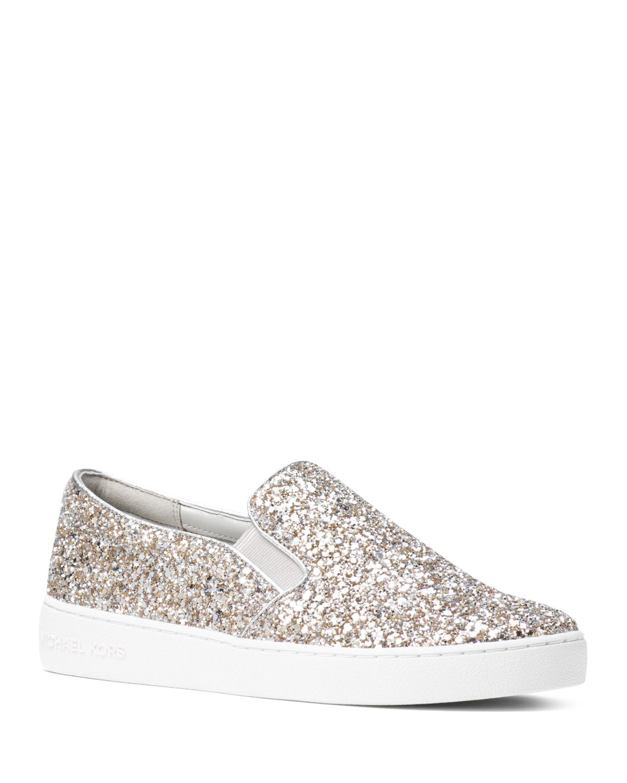 Michael Kors Women's Keaton Glitter Slip-On Sneakers