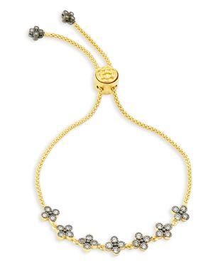 FREIDA ROTHMAN Adjustable Clover Bracelet in Gold/ Silver