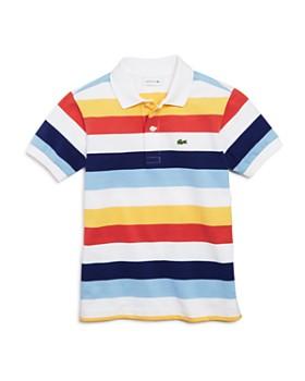 Lacoste - Boys' Mixed Stripe Polo - Little Kid, Big Kid