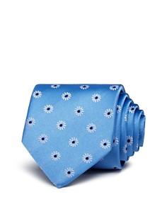 HUGO Neat Macro Daisy Silk Skinny Tie - Bloomingdale's_0