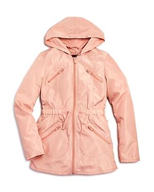 Aqua Girls Ruffled Rain Jacket Big Kid  100 Exclusive