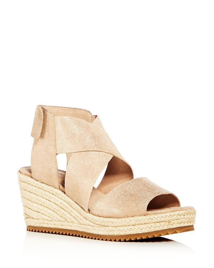 Eileen Fisher - Women's Willow Nubuck Leather Platform Espadrille Sandals