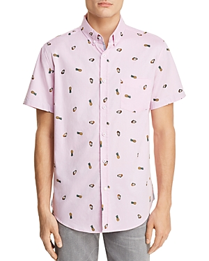 Sovereign Code  CRYSTAL COVE PINA COLADA SHORT SLEEVE BUTTON-DOWN SHIRT