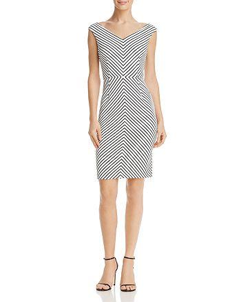 Adrianna Papell - Striped Sheath Dress