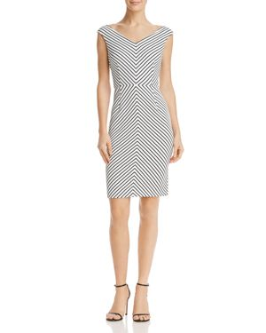 Adrianna Papell Striped Sheath Dress 2863566