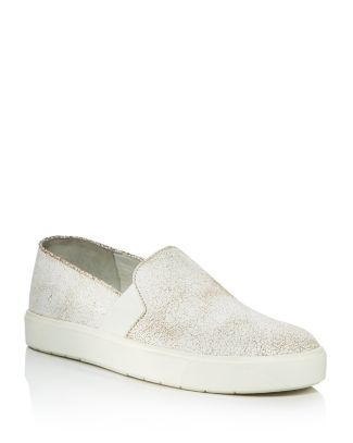 Vince Women's Blair Crackled Leather Slip-On Sneakers