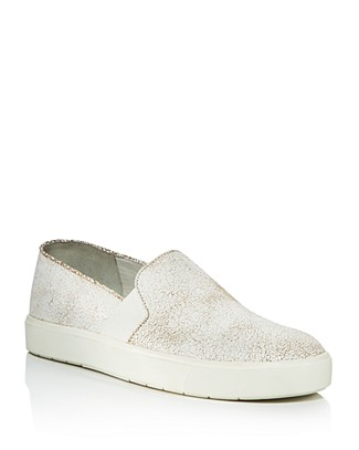Vince Women's Blair Crackled Leather Slip-On Sneakers pNyjvQn
