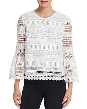 Aqua Crochet Bell Sleeve Top - 100% Exclusive