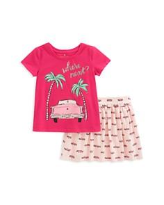 kate spade new york Girls' Where Next Road Trip Tee & Printed Skirt Set - Little Kid - Bloomingdale's_0