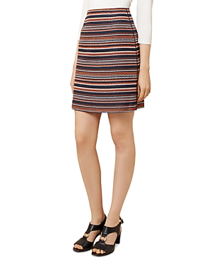 Hobbs London Tammi Striped Tweed Skirt