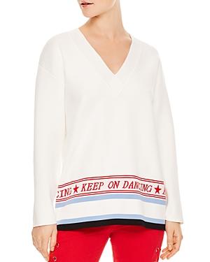 Sandro Domus Graphic V-Neck Sweater