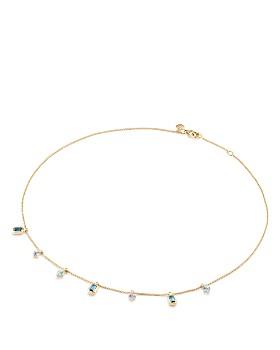 David Yurman - Novella Necklace in Hampton Blue Topaz, Aquamarine & Tanzanite with Diamonds