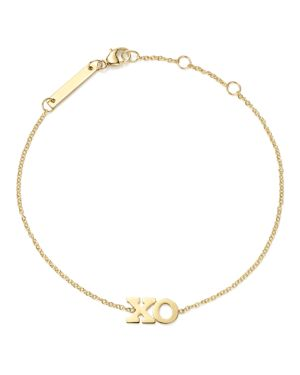 Zoe Chicco 14K Yellow Gold Xo Bracelet