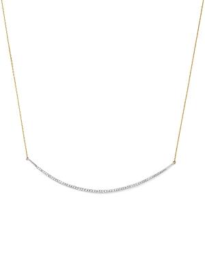 Adina Reyter Sterling Silver & 14K Yellow Gold Pave Diamond Curve Choker Necklace, 13