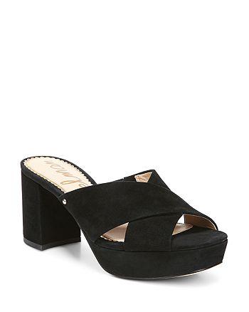 Sam Edelman - Women's Jayne Suede Platform High-Heel Slide Sandals
