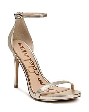 Sam Edelman Women's Ariella Leather High Heel Ankle Strap Sandals