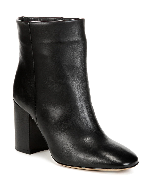 Vince Women's Felton Leather Block Heel Booties 3ggnFDFE5