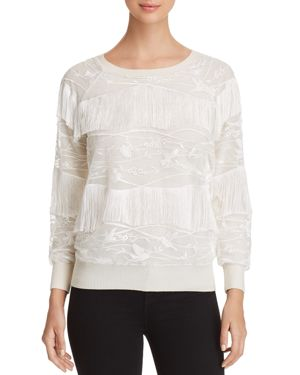Elie Tahari Roslyn Fringe Sweater