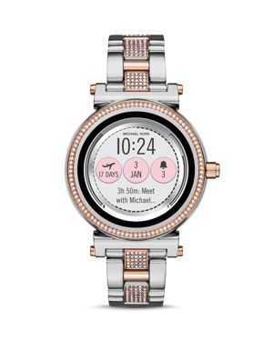 MICHAEL KORS ACCESS Sofie Touchscreen Bracelet Smart Watch, 42Mm in Rose Gold/ Silver