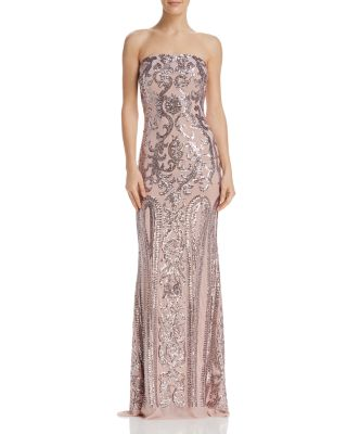 Strapless Sequined Gown   100 Percents Exclusive by Aqua