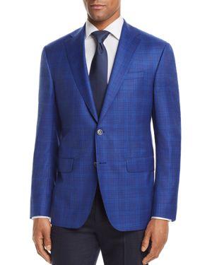 JACK VICTOR District Check Regular Fit Sport Coat in Blue