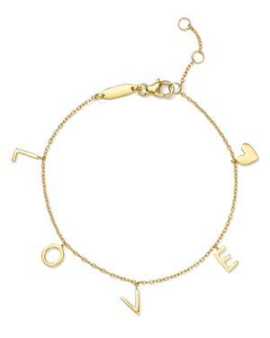 Argento Vivo Love Charm Bracelet