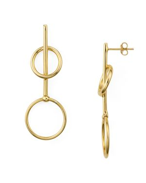 Argento Vivo Double Loop Drop Earrings