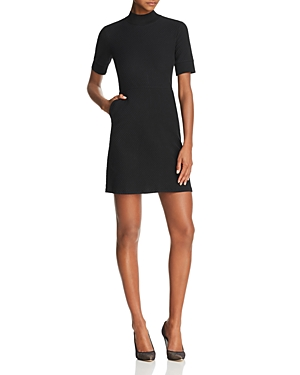 French Connection Savos Textured Mock Neck Dress