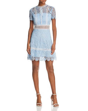 $AQUA Floral Lace Dress - 100% Exclusive - Bloomingdale's