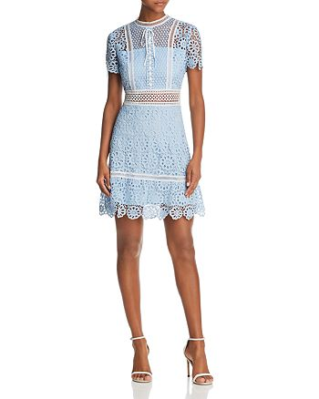 AQUA - Floral Lace Dress - 100% Exclusive