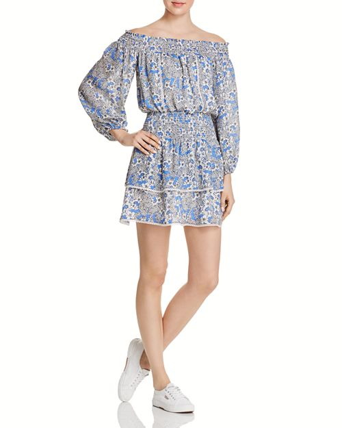 Parker - Kara Off-the-Shoulder Silk Dress