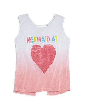 Play Six - Girls' Ombré Mermaid at Heart Tank - Little Kid