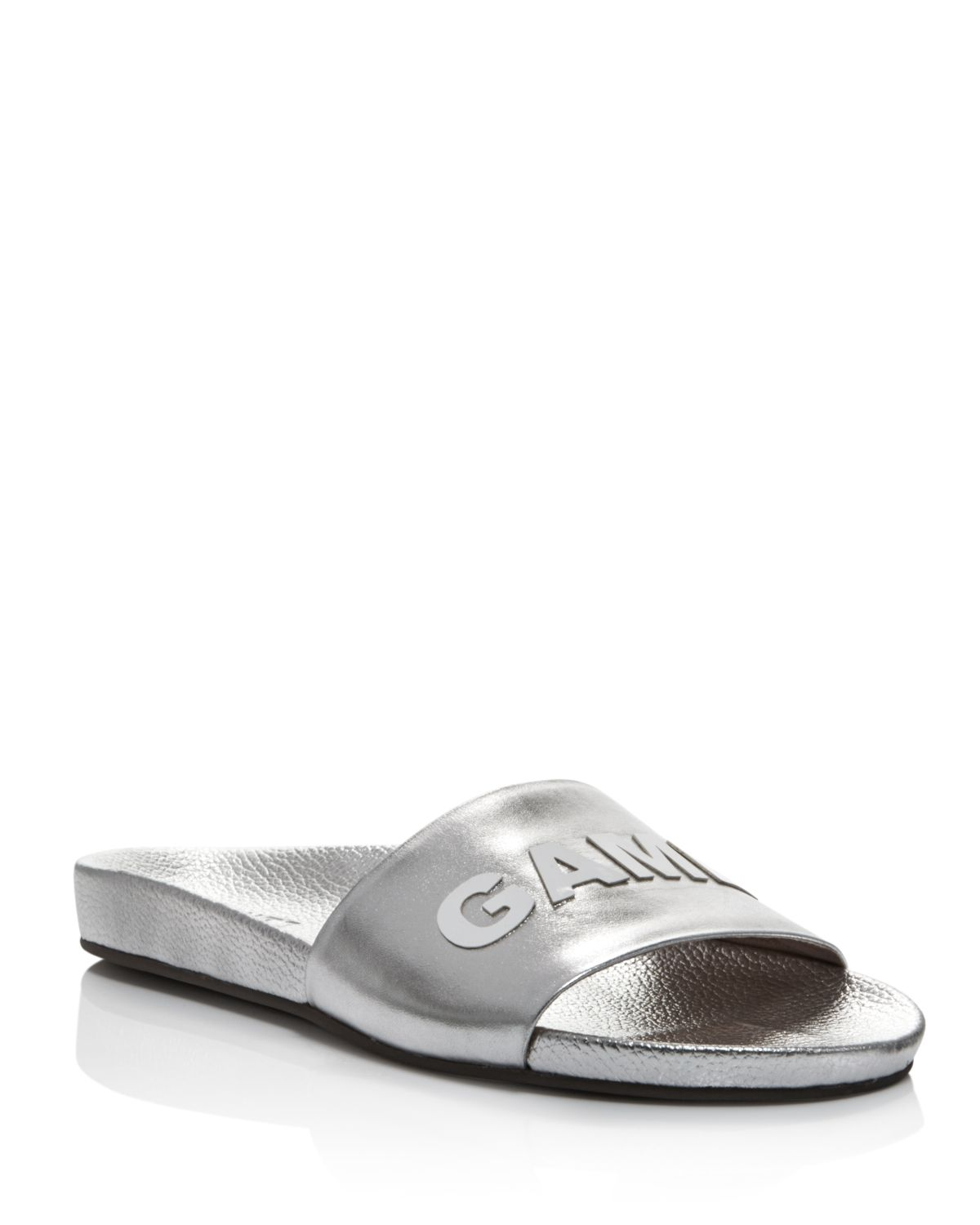 Schutz Women's Game Over Leather Pool Slide Sandals - 100% Exclusive