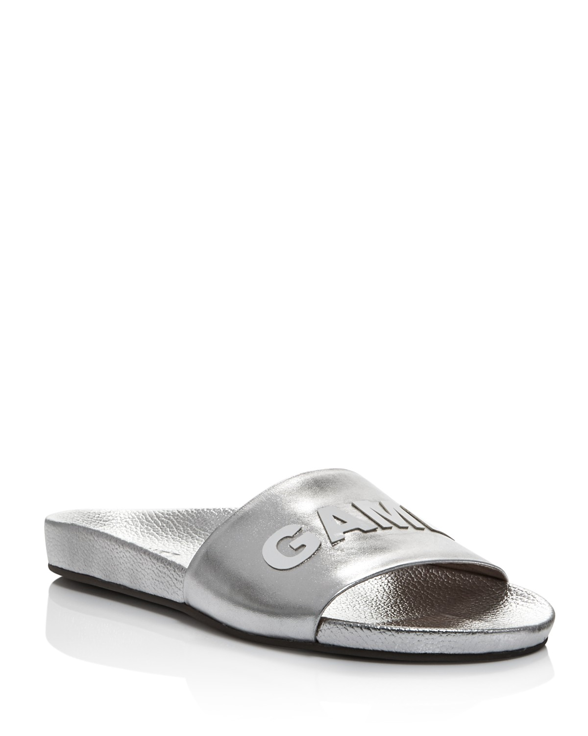 Schutz Women's Game Over Leather Pool Slide Sandals - 100% Exclusive A0pg2