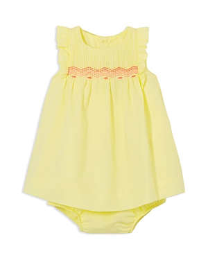 Jacadi Girls' Embroidered Dress & Bloomers Set - Baby