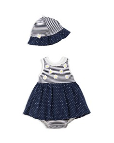 Little Me Girls' Daisy Dots Popover & Hat Set - Baby - Bloomingdale's_0