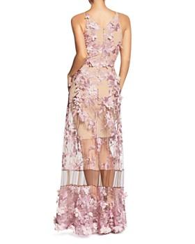 Dress the Population - Gigi Floral Illusion Gown