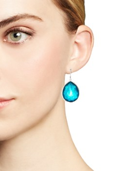 IPPOLITA - Sterling Silver Wonderland Mother-of-Pearl & Clear Quartz Doublet Teardrop Earrings in Tide