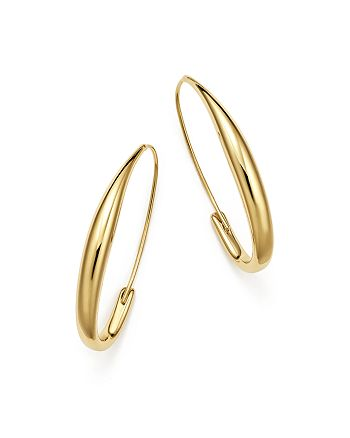 Bloomingdale S Endless Oval Hoop Earrings In 14k Yellow Gold 100 Exclusive