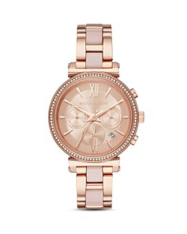 Michael Kors - Rose Gold-Tone Sofie Chronograph, 39mm