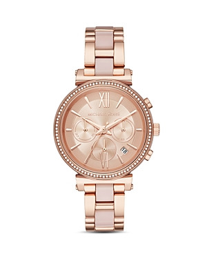 Michael Kors Rose Gold-Tone Sofie Chronograph, 39mm