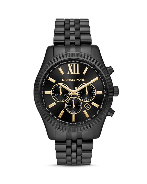 Michael Kors - Black Lexington Chronograph, 44mm