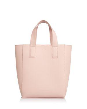 Pebble Leather Ribbon Shopper Bag