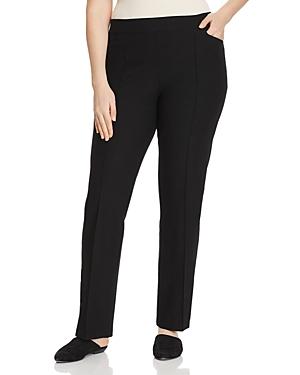 New Eileen Fisher Plus Slim Bootcut Pants, Black