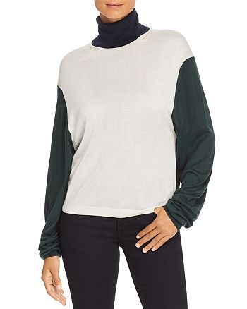 Burberry - Mazon Color Block Turtleneck Sweater