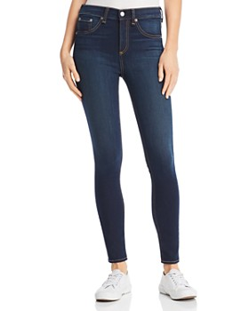 rag & bone/JEAN - High-Rise Ankle kinny Jeans in Bedford