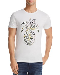BOSS Orange Tauno Pineapple Print Crewneck Tee - Bloomingdale's_0