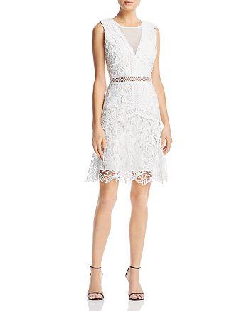 AQUA - Swiss Dot-Inset Lace Dress - 100% Exclusive